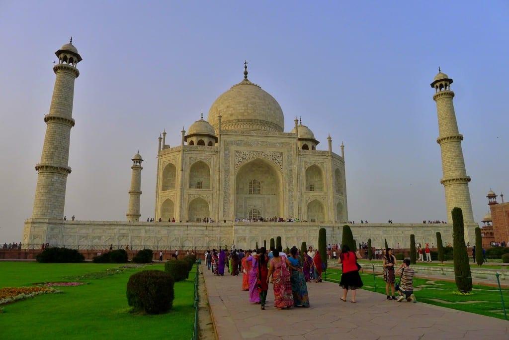 Spektakulære Taj Mahal i skumringen