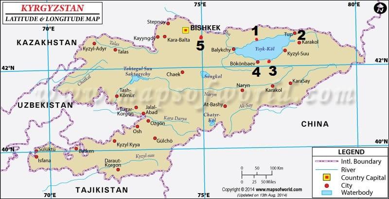 Kart hentet fra www.mapsofworld.com